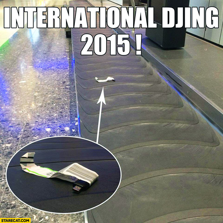 International DJing 2015 airport pendrive luggage