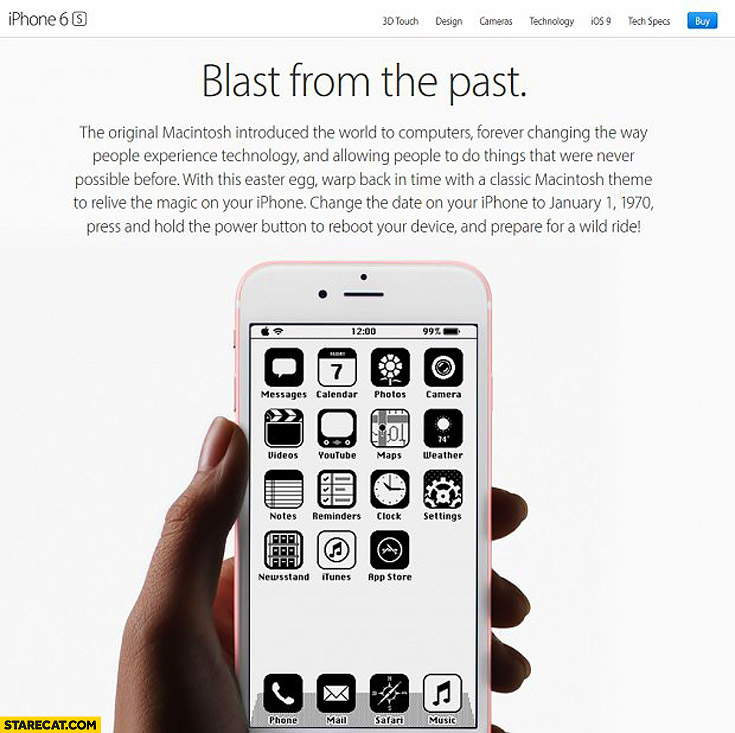 "iPhone iOS bug date January 1 1970 – bug AD trolling users ""Blast from the past"""