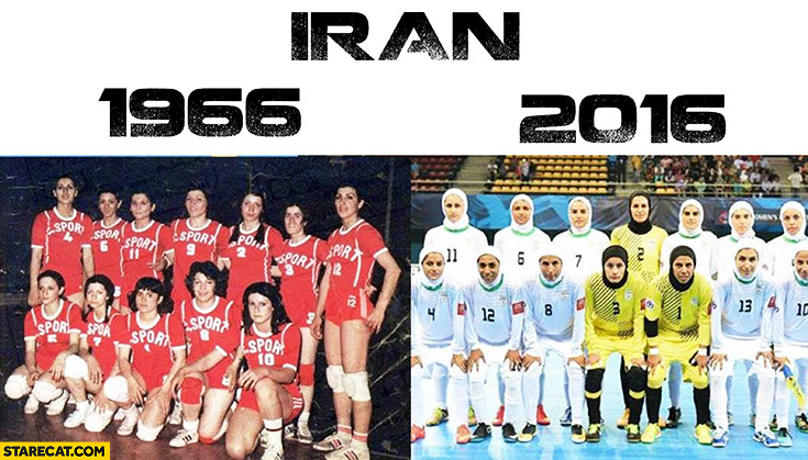 Iran olympics sports team in 1966 vs 2016 comparison