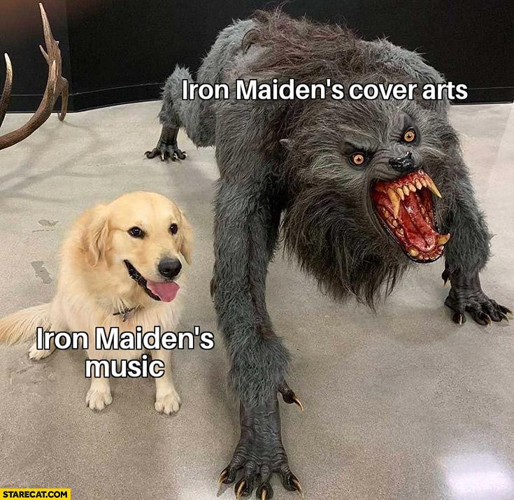 Iron Maiden's cover arts vs Iron Maiden's music