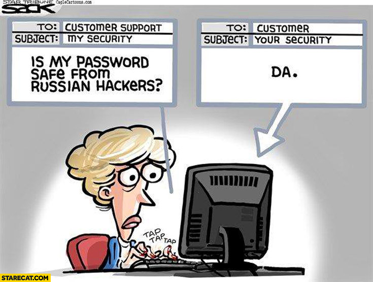 Is my password safe from russian hackers? Da