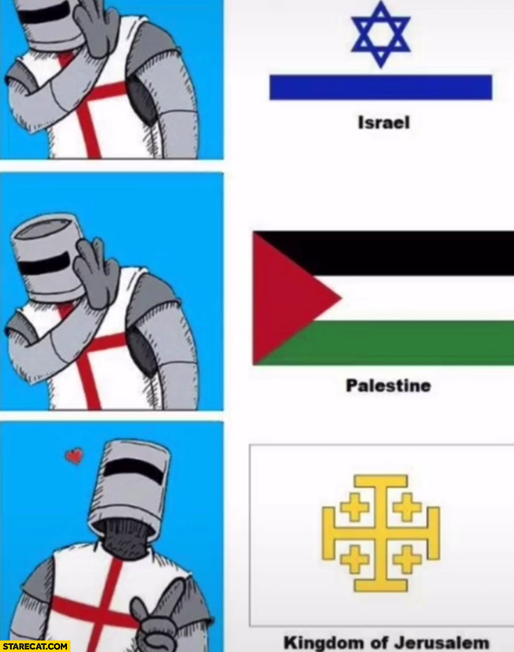 Israel Palestine nope crusader prefers Kingdom of Jerusalem