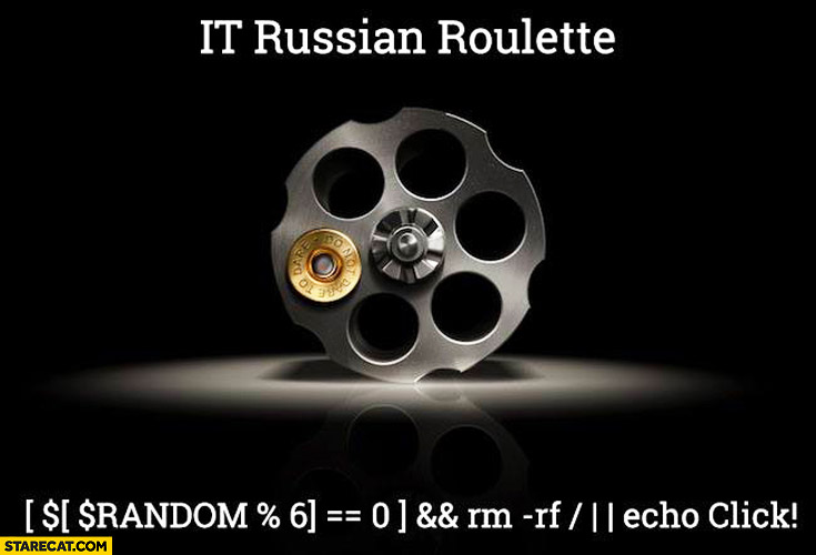 IT Russian Roulette programming code