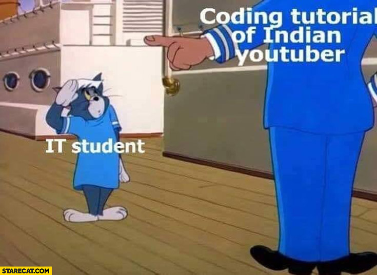 IT student coding tutorial of indian youtuber