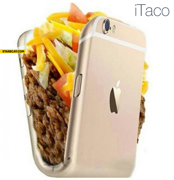 iTaco bent iPhone as a Taco