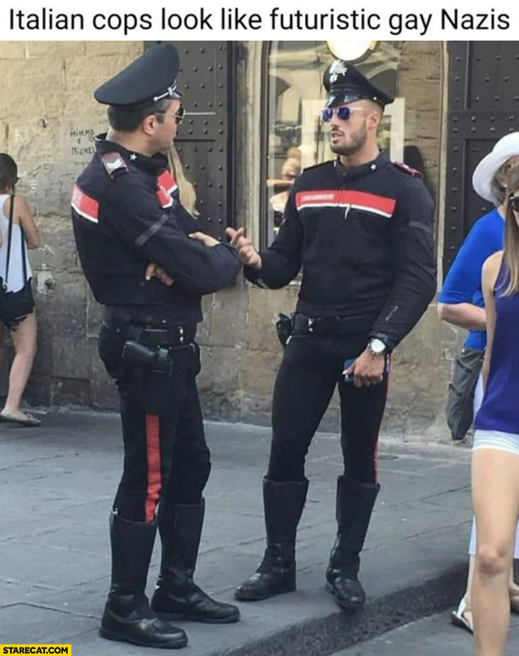 Italian cops look like futuristic gay nazis