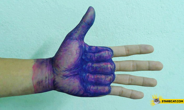 It's ok hand thumb up