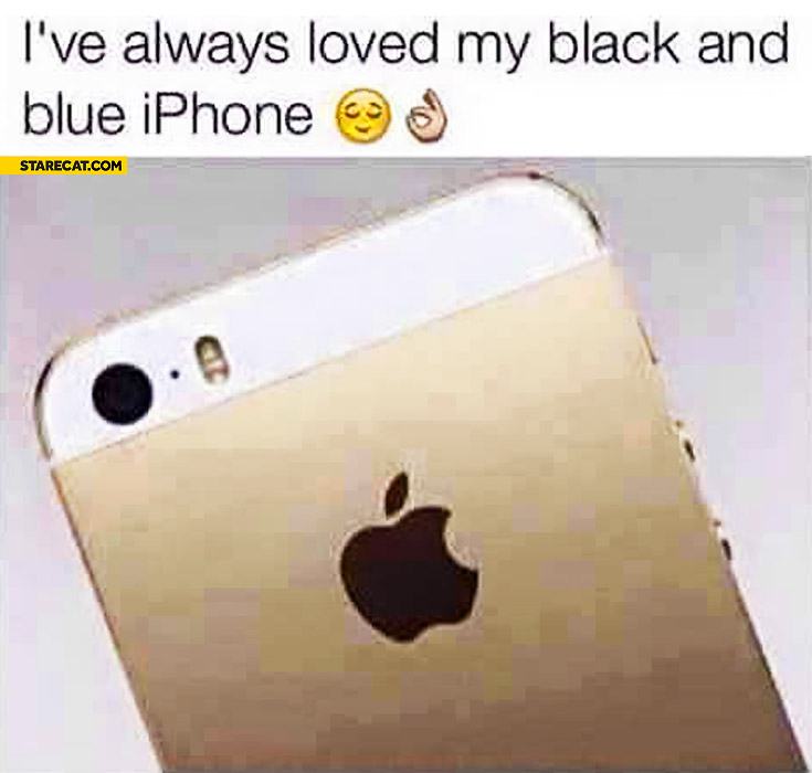 I've always loved my black and blue iPhone