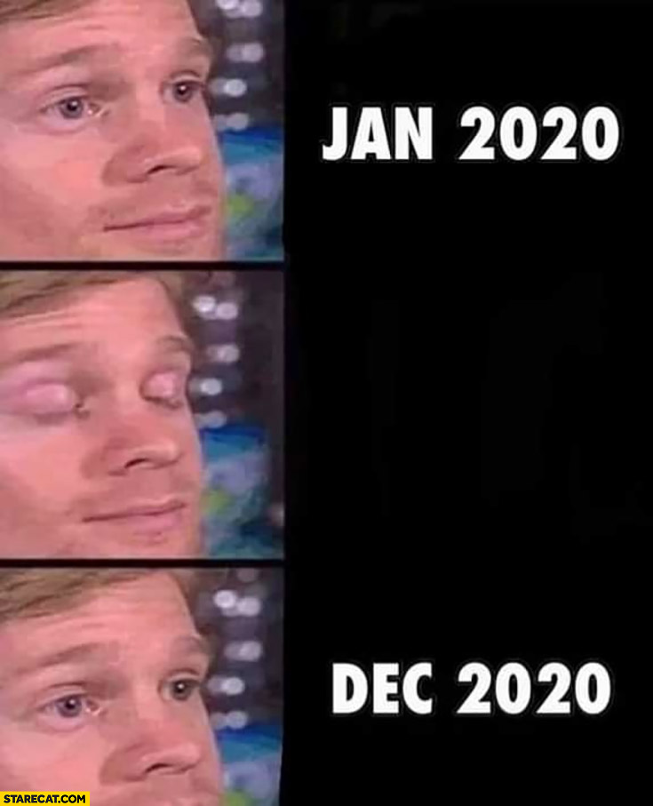 January 2020 December 2020 whole year passed in no time