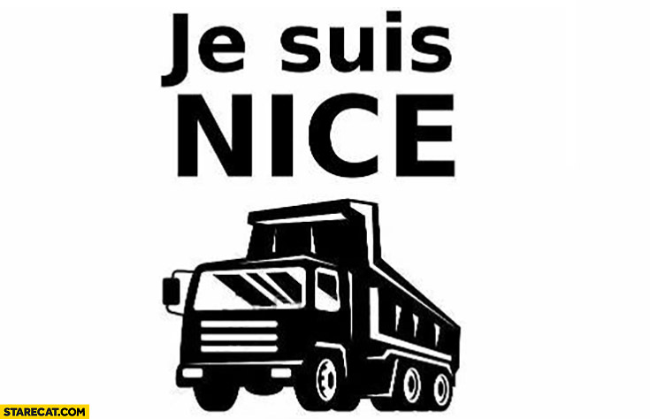 Je suis Nice truck lorry