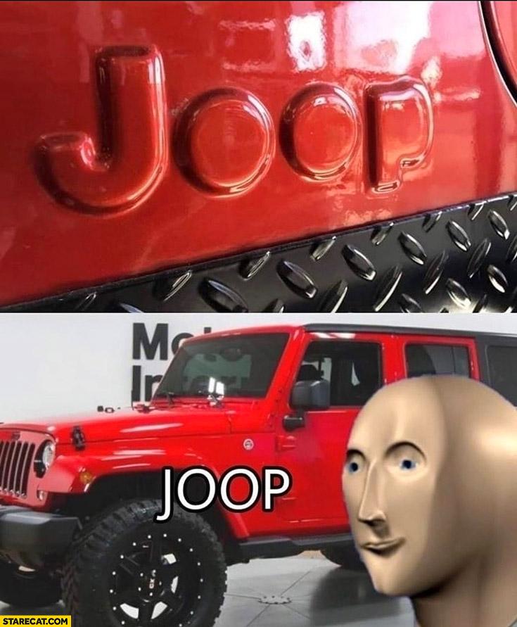 Jeep logo fail joop