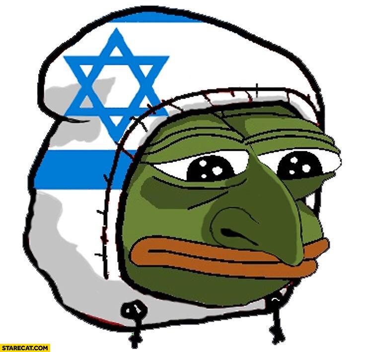 Jew Jewish pepe frog Israel flag hoodie