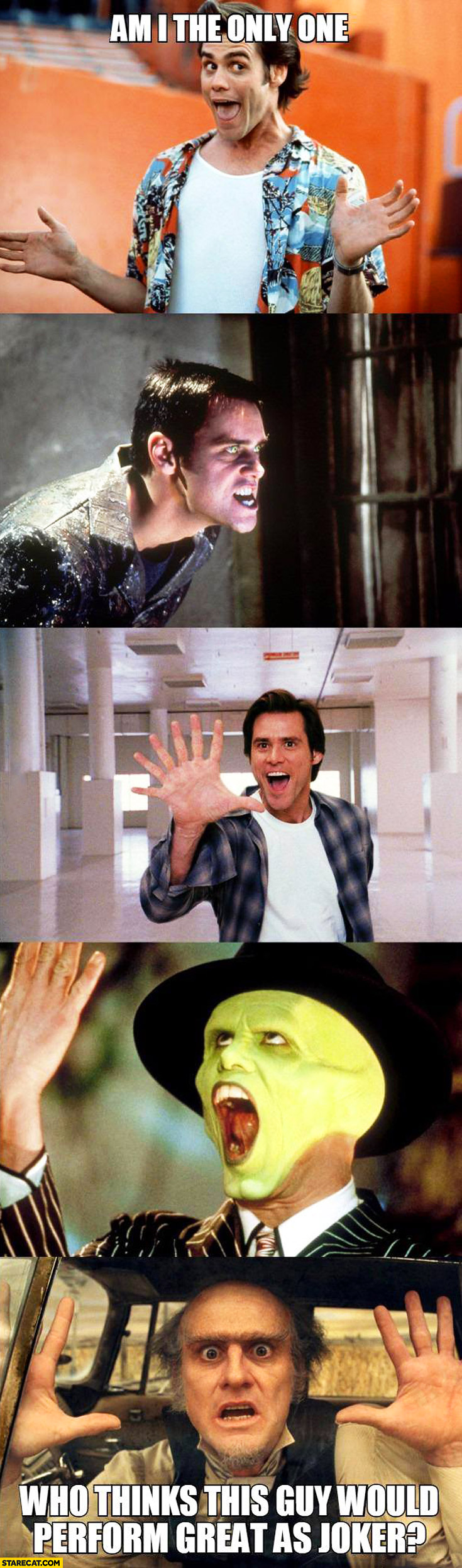 Jim Carrey am I the only one who thinks he would perform great as Joker