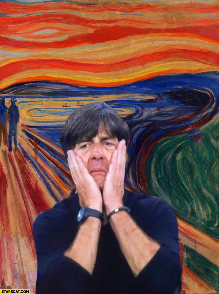 Joachim Loew Edvard Munch the scream painting photoshopped France Germany football match
