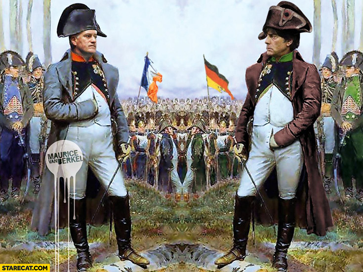 Joachim Loew Napoleon holding hand in his pants France Germany football match