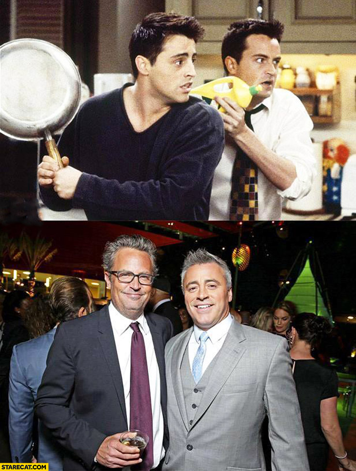 Joey Chandler now and then feeling old