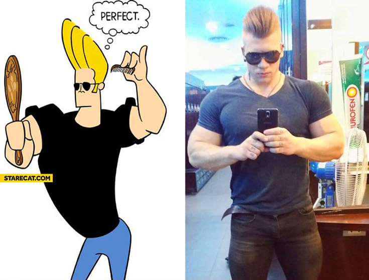 Johnny Bravo really exists!