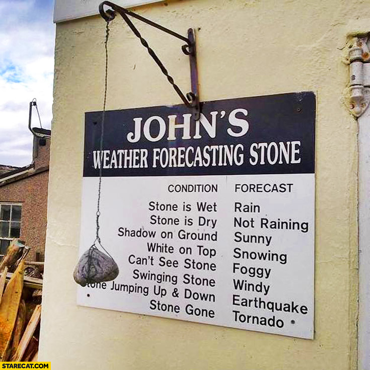John's weather forecasting stone condition forecast
