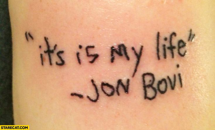 Jon Bovi tattoo fail