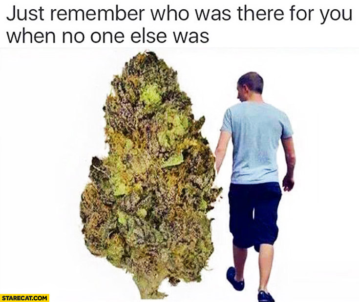 Just remember who was there for you when no one else was cannabis