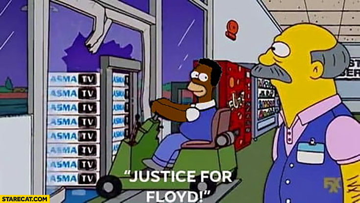 Justice for Floyd man stealing plasma tv sets from shop
