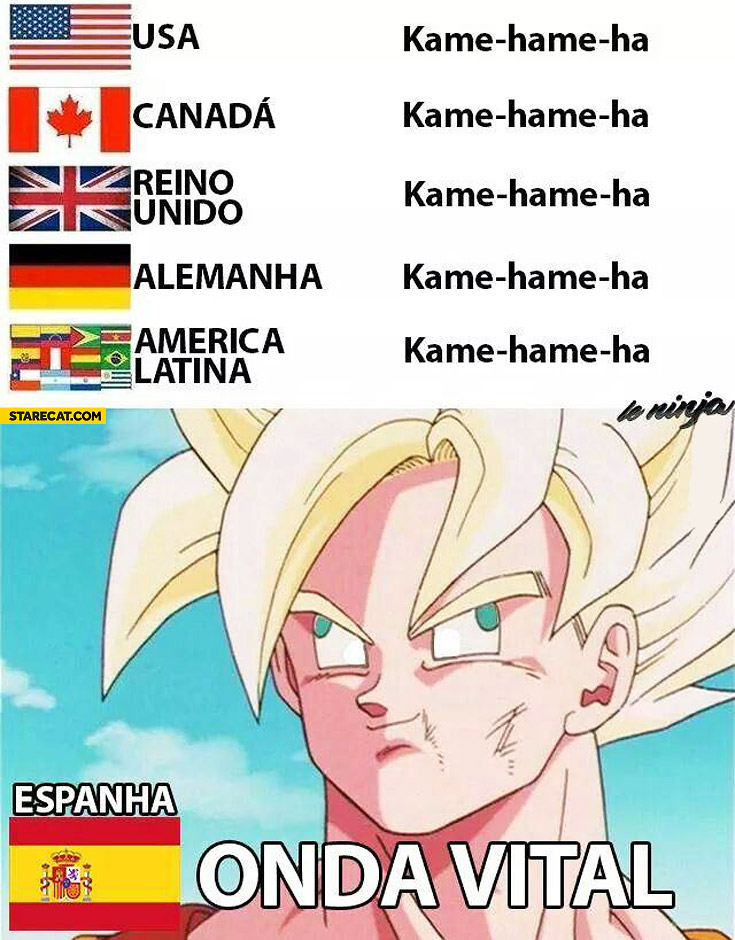 Kame hame ha in Spanish onda vital