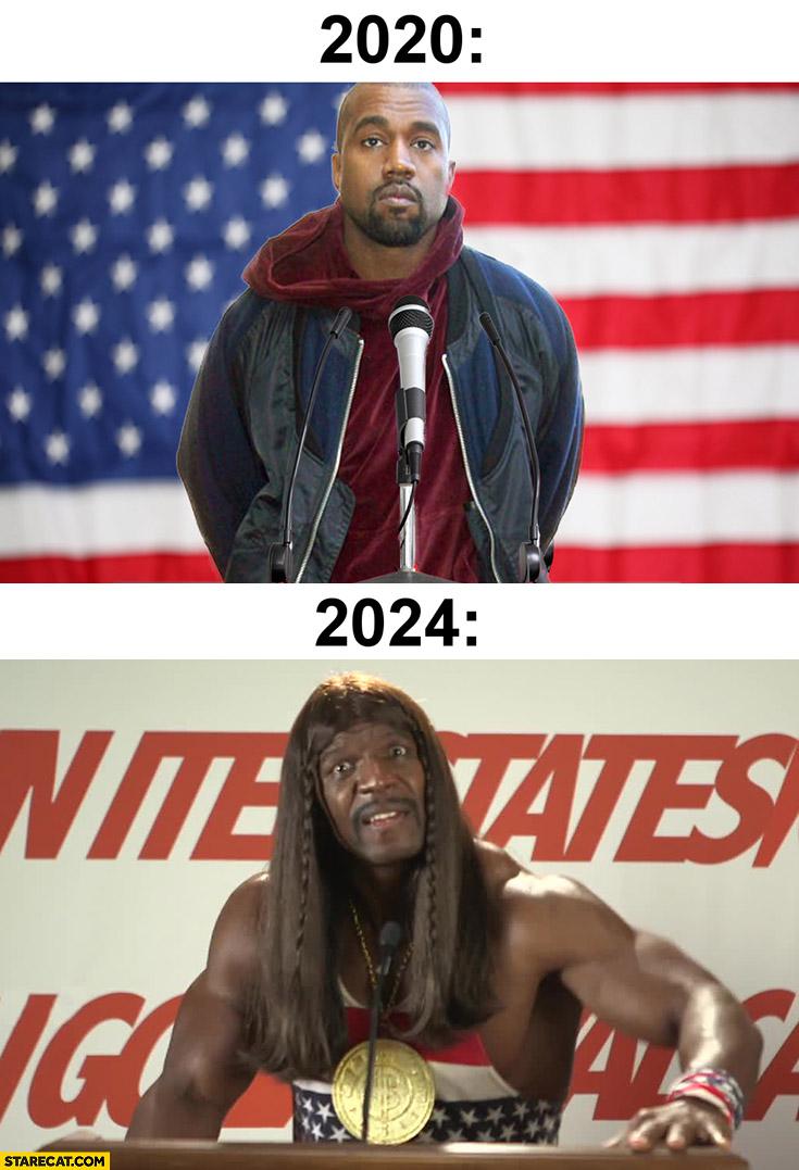 Kanye West in 2020 vs Kanye West in 2024