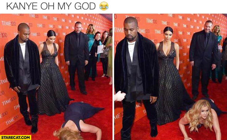 Kanye West red carpet fail didn't help woman