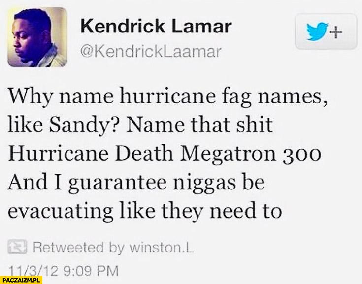 Kendrick Lamar hurricane death megatron 300