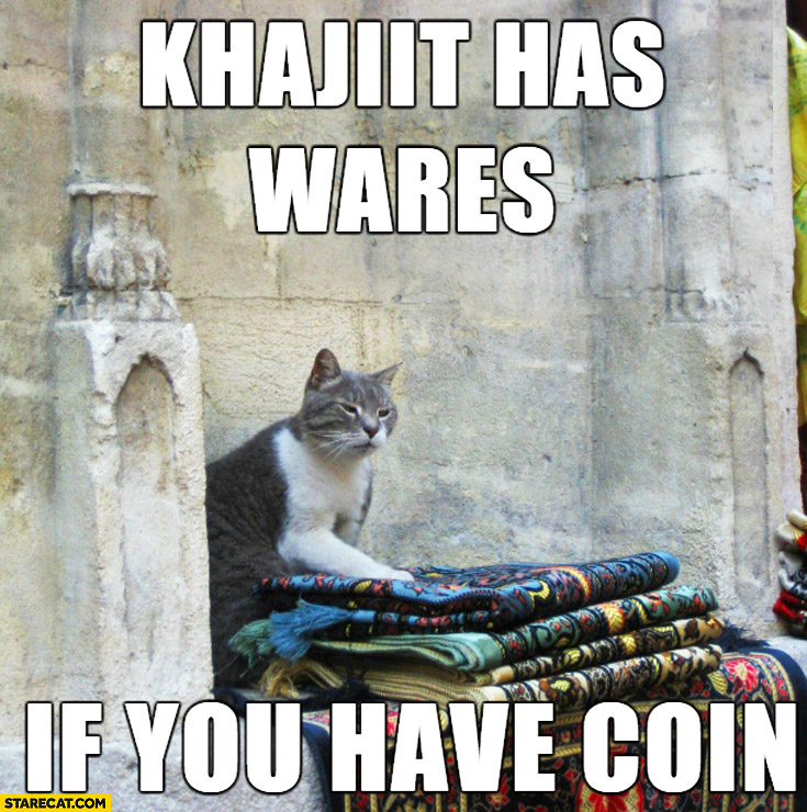 Khajiit has wares if you have coin cat selling clothes