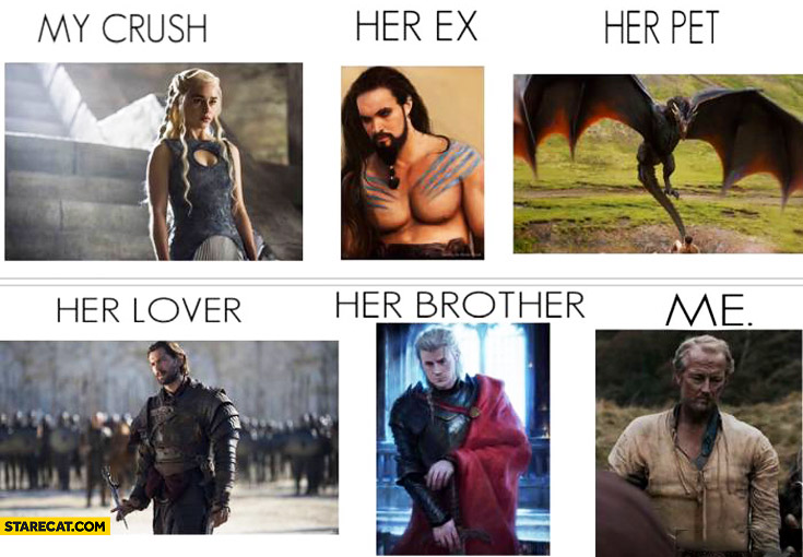 Khaleesi my crush her ex her pet her lover her brother me