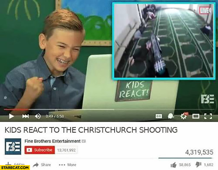 Kids react to the Christchurch shooting youtube video