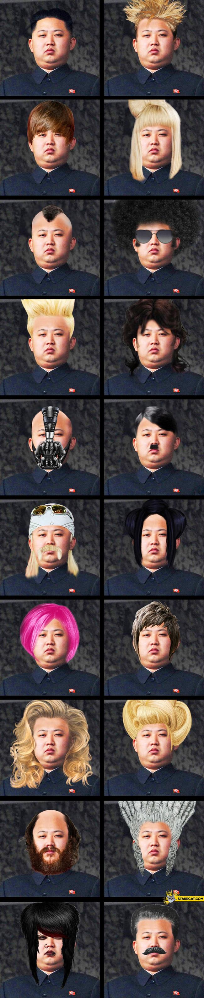 Kim Jong Un haircuts
