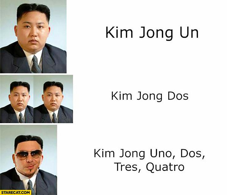 Kim Jong Un, Kim Jong Dos, Kim Jong Uno Dos Tres Quatro Pitbull