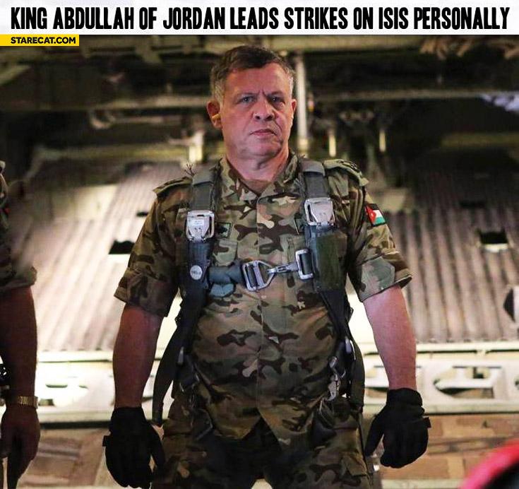 King Abdullah of Jordan leads strikes on ISIS personally