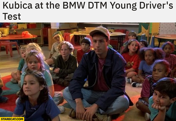 Kubica at the BMW TDM young driver's test old kids around