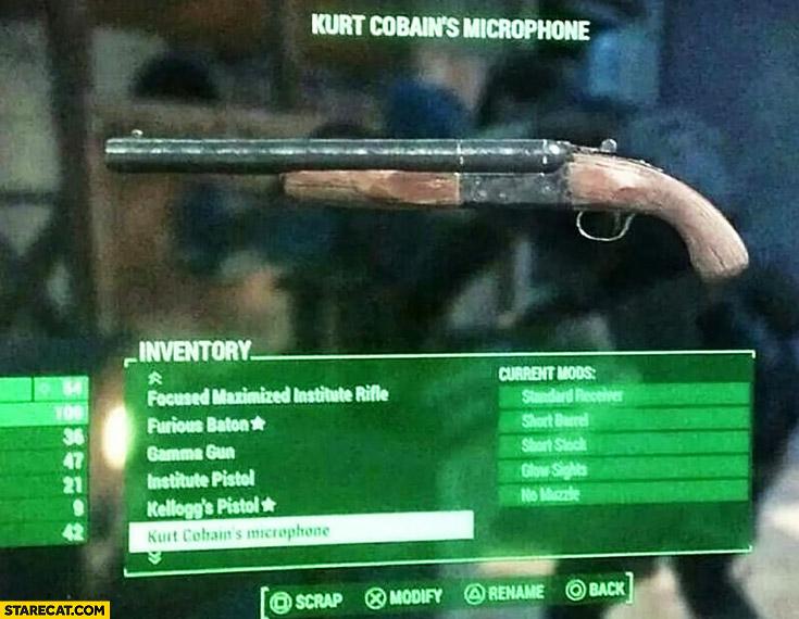Kurt Cobain's microphone shotgun gun