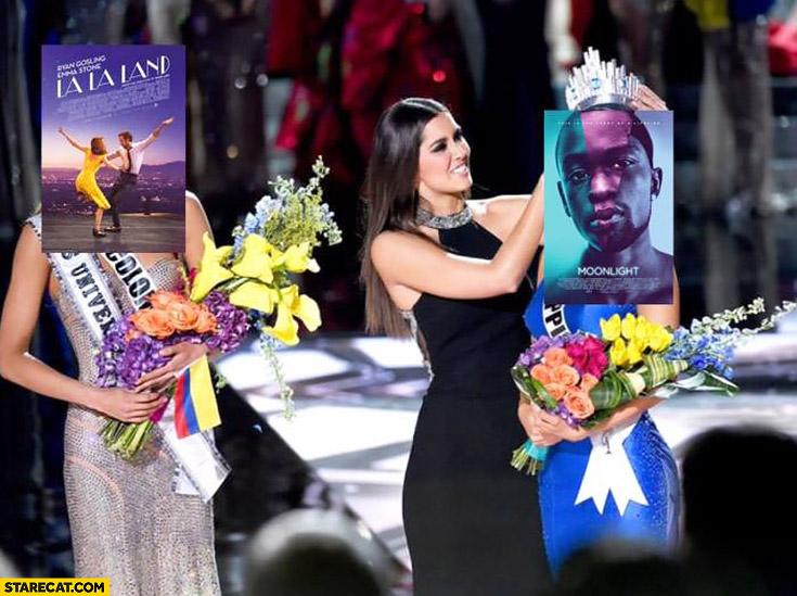 La La Land Miss Universe fail Moonlight gets it