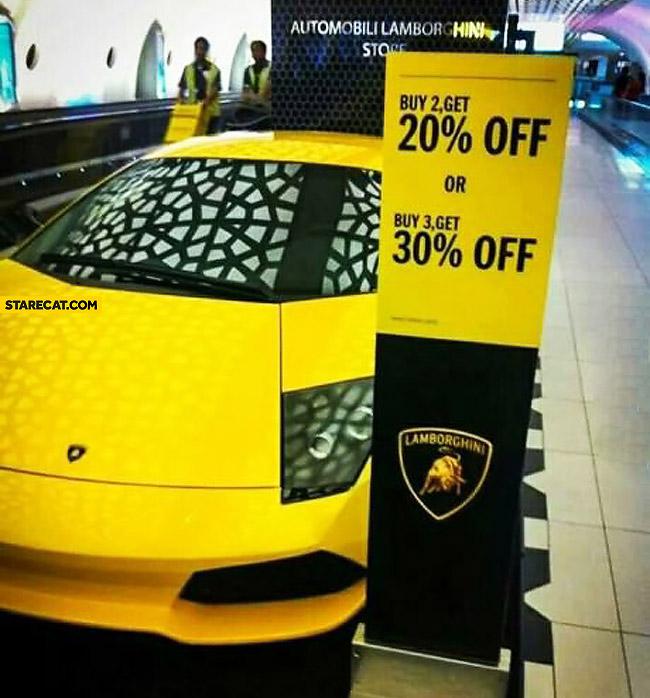Lamborghini sale