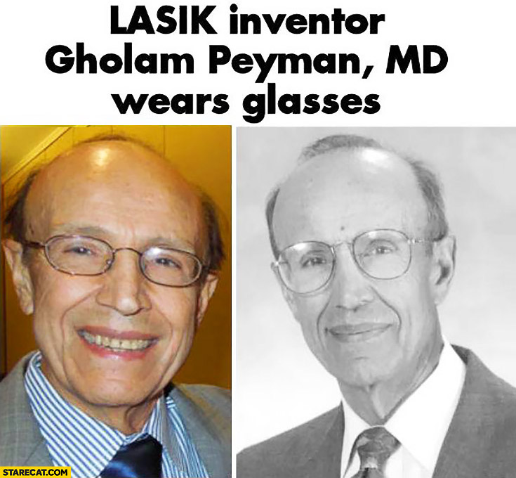 Lasik inventor Gholam Peyman md wears glasses eye laser surgery