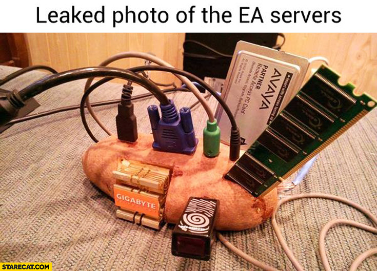 Leaked photo of the EA servers bread trolling