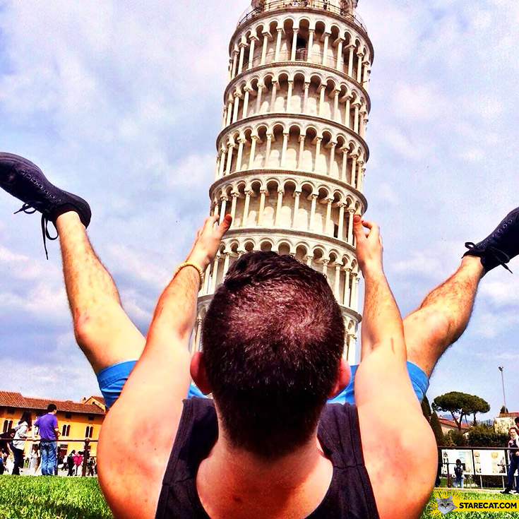Leaning tower of Pisa best photo