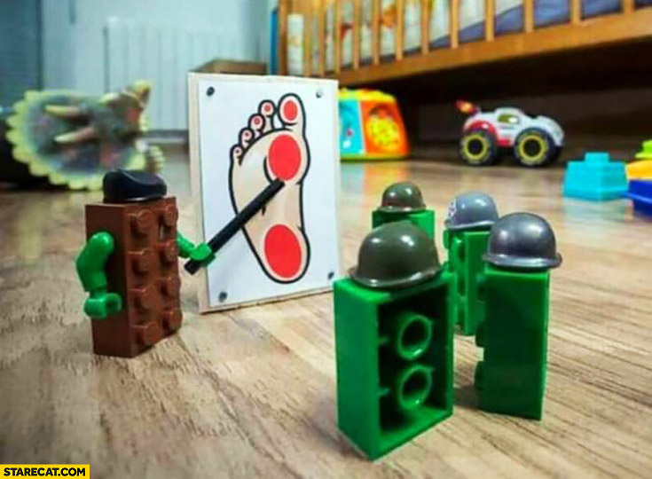 LEGO bricks military tactics plan to attack foot feet