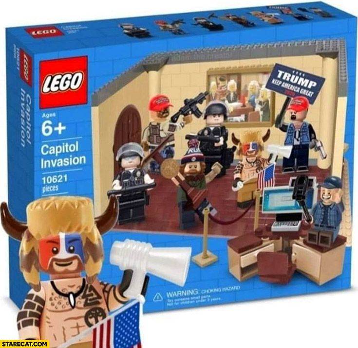 Lego capitol invasion Trump supporters
