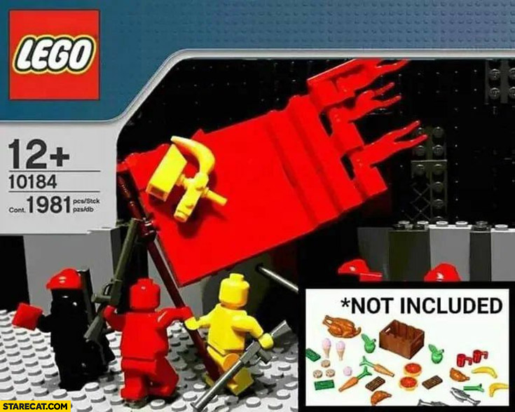 Lego communism socialism kit food not included