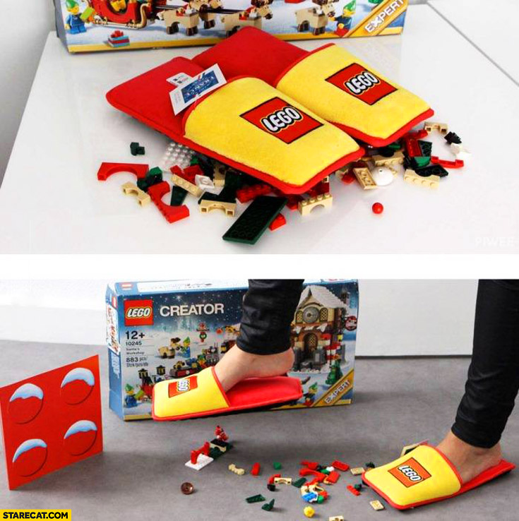 LEGO created anti-LEGO brick slippers