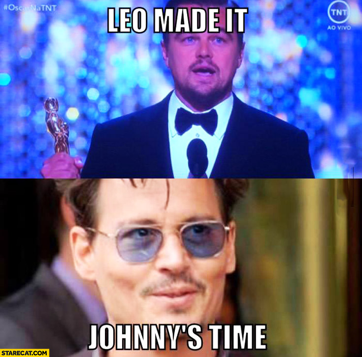 Leo made it Johnny's time DiCaprio Depp Oscars