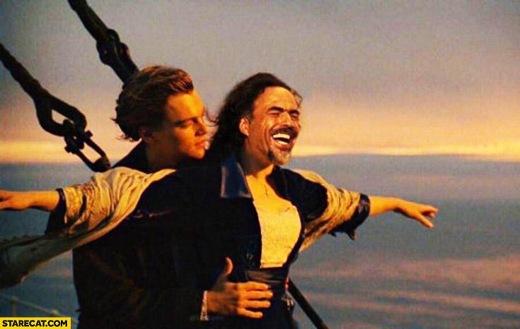 Leonardo DiCaprio Steve Harvey instead of Kate Winslet Titanic photoshopped