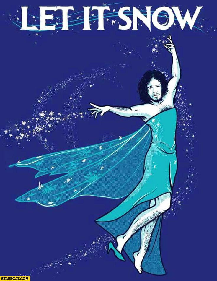 Let it snow John Snow fairy