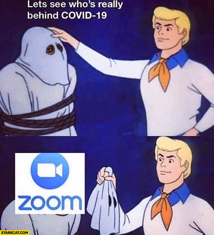 Let's see who's really behind Covid-19 Zoom app Scooby-Doo